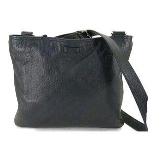 100% AUTH GUCCI GUCCISSIMA LEATHER Crossbody Bag
